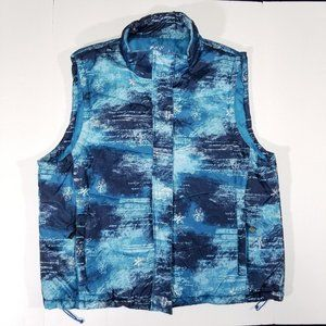 White Mountain Blue All-Over-Print Outdoor Vest